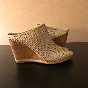 Johnson and Murphy wedge heeled shoes.